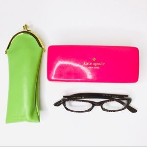 Kate Spade Leopard Eye Glasses with Cases